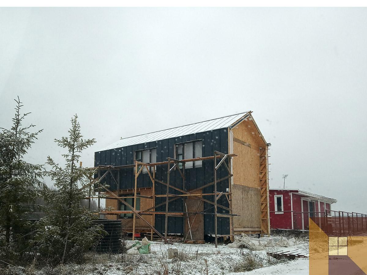 Барнхаус. Проектирование небольших домов. Дома на 120 метров квадратных