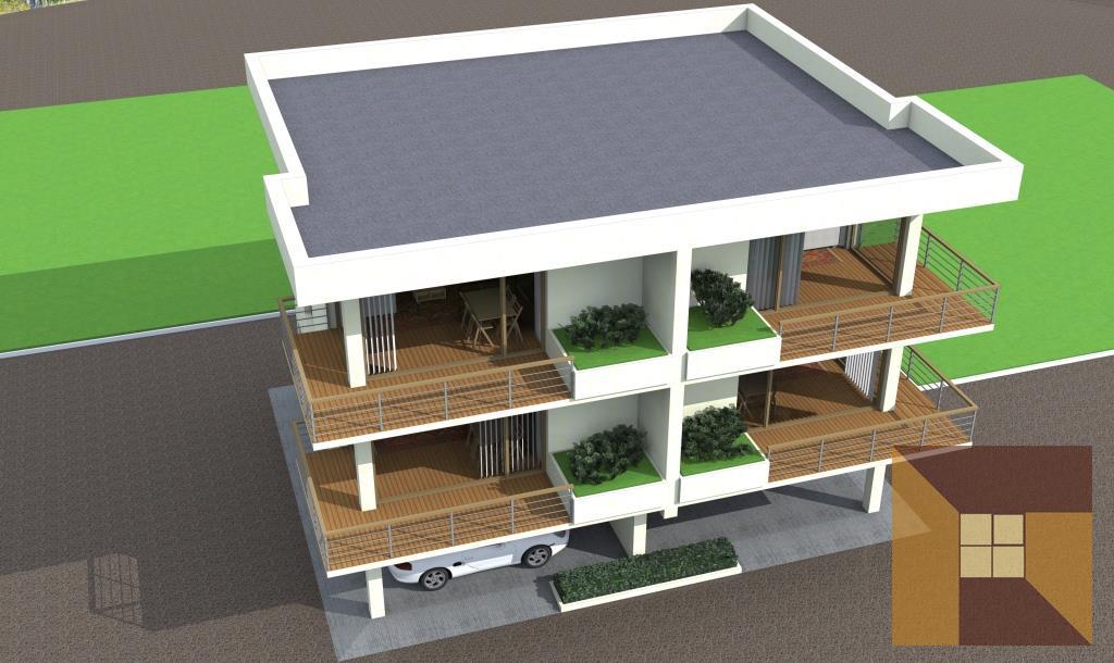 Пример индивидуального архитектурного решения гостиницы. Фасад гостиницы.